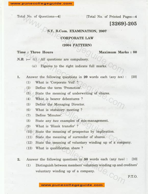 corporations essay exams