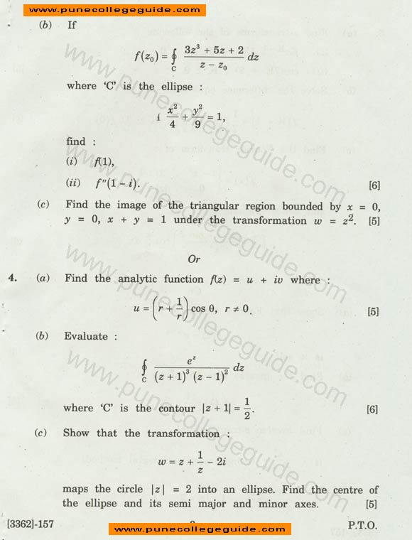 Engineering Mathematics III exam paper