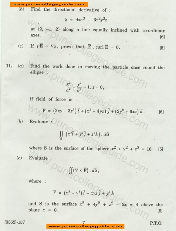 question Engineering Mathematics III