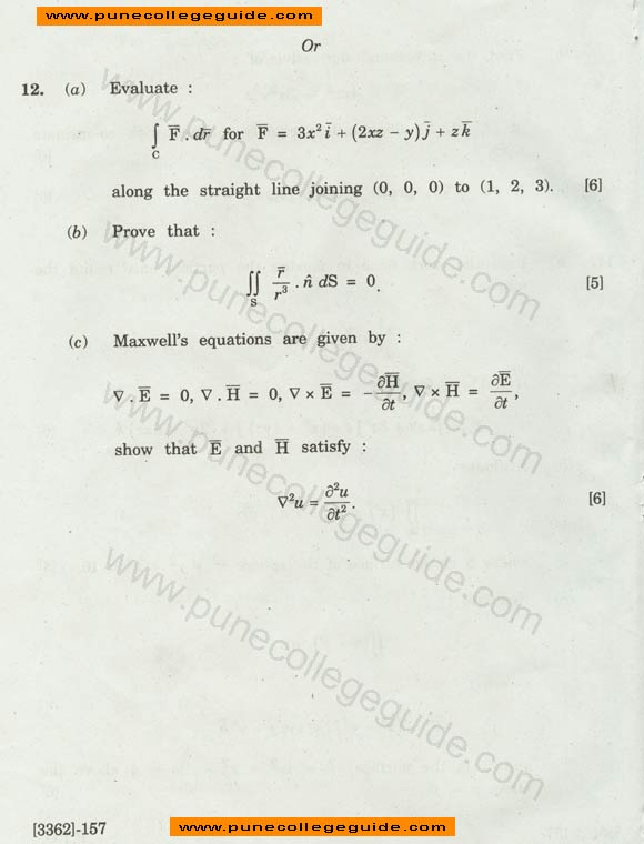 Engineering Mathematics III paper