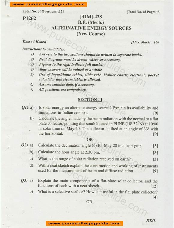 Alternative Energy Essay Examples