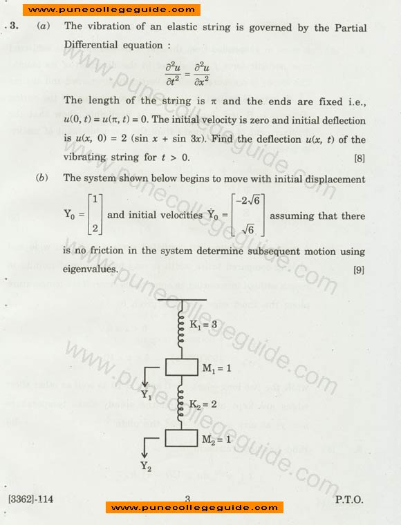 Engineering Mathematics III exam papers