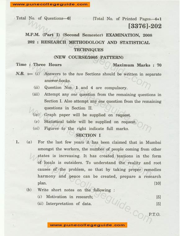 Research methodology paper ugc